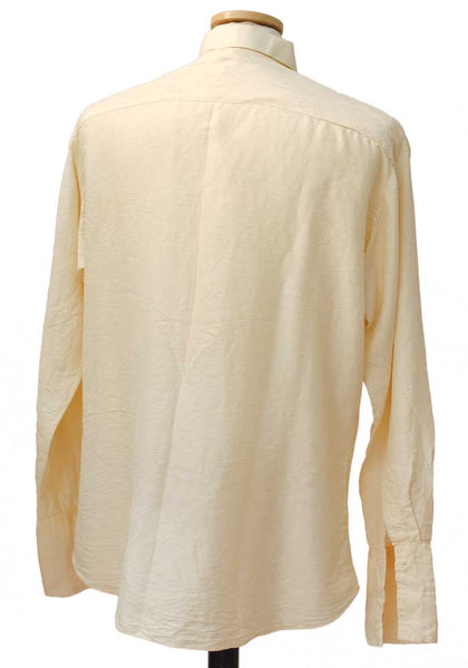 1940s Men's Vintage  Cream Silk Shirt • Treasure of Siam