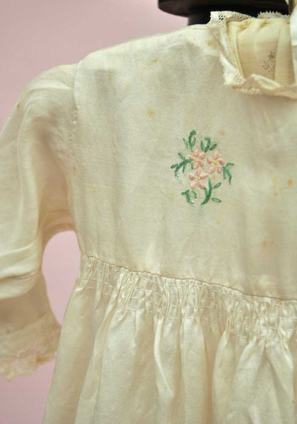 antique embroidered christening robe