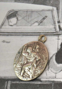 vintage st christopher safe travel charm