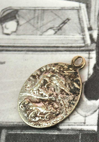 1920s st christopher silver charm