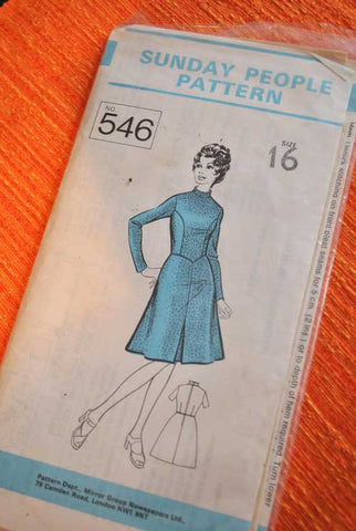 Sunday People Dress Pattern 546