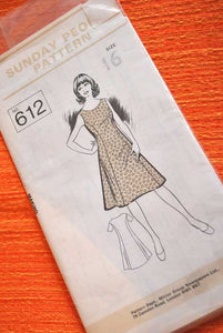 70s Sunday People Sleeveless Dress Pattern 612