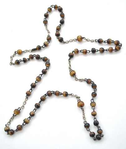 tigers eye bead necklace