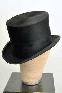 vintage 20s Christies silk top hat with original box