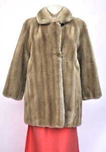 60s faux mink fur coat by Tissavel