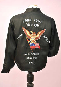 vietnam, hong kong, philippines, hawaii, south pacific tour of duty, american eagle embroidery