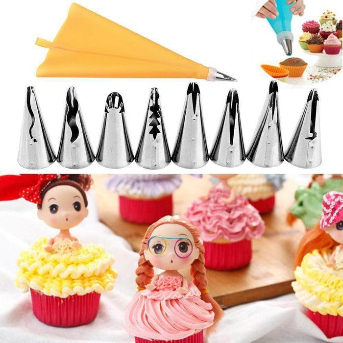 Magic Piece™ Nozzles Decoration Set ( Set of 8 ) + 3D Silicone Mould Rose Shape
