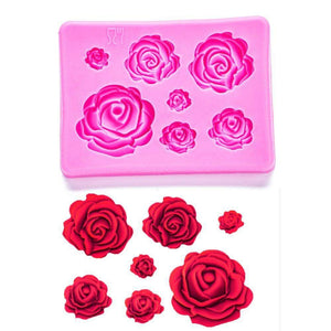 3D Silicone Mould Rose Shape