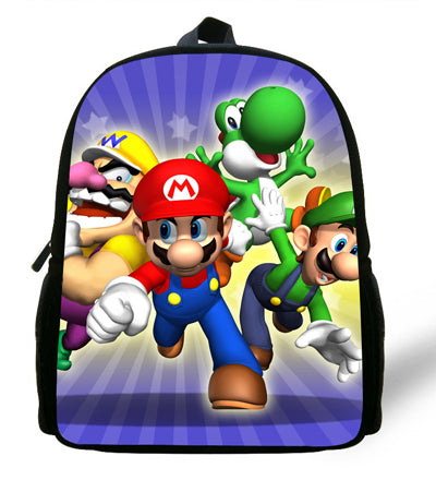 2017 Hot Sale Super Mario 12 Inches Printing Cool Hero School Backpack for  Unisex kids 1 c6f6844b564f4