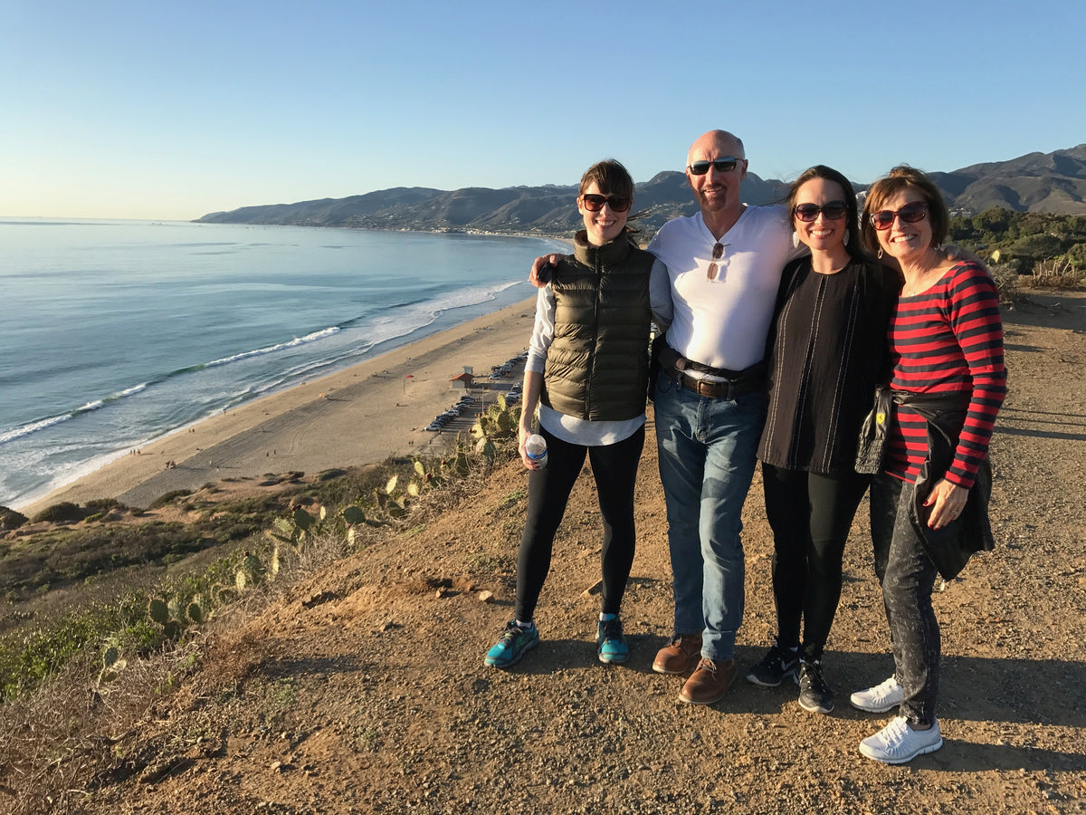 Our family at Point Dume, Malibu