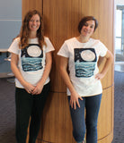 Two Women Wearing Ocean Moon Tee Shirt