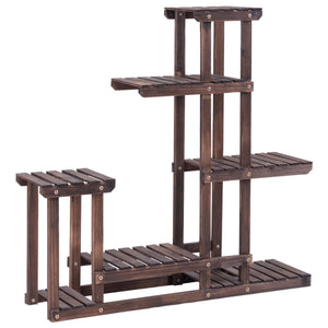 Outdoor Wooden Plant  Display Stand