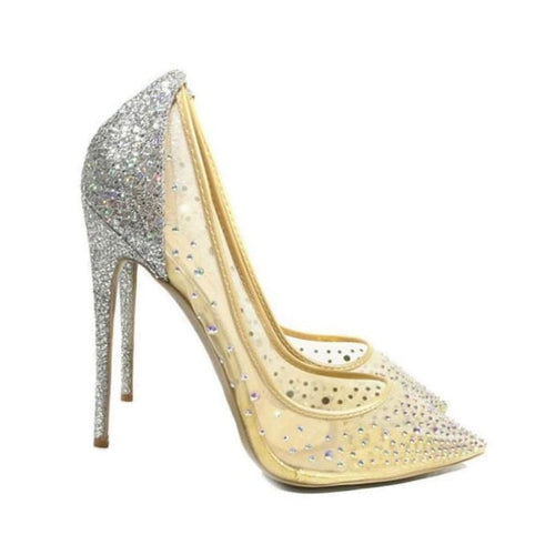 Adeline - silver 12cm / 3.5 - Wedding Shoes