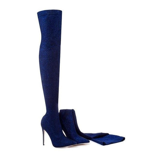 Bling Bling Boots - blue / 3 - Shoes
