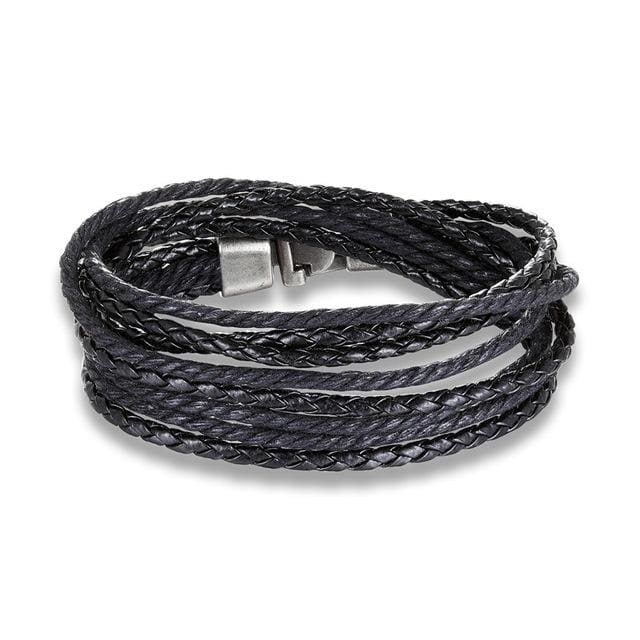 Braided Rope - Black - Accessories for man