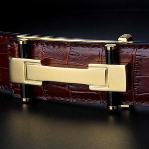 Crocostyle - style3 brown gold / 105cm - Belts