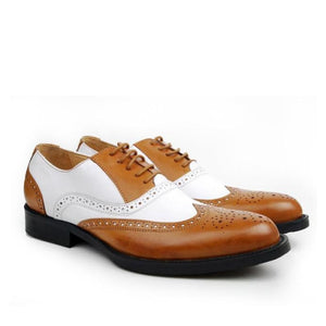 Gangster - Light brown White / 5 - Mans Shoes