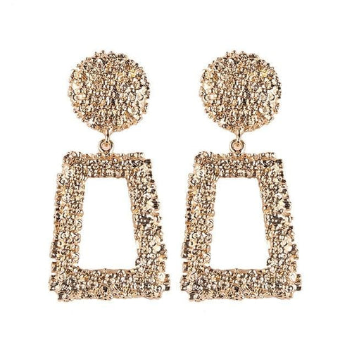 Lady golden metal - Gold Color - Earrings