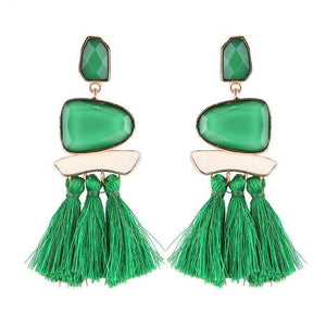 Lady smile - Green - Earrings
