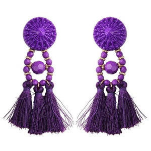 Lady vamp - Purple - Earrings