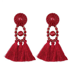 Lady vamp - Wine Red - Earrings