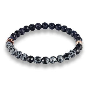 Star Stones - Rose gold / Black / adjutable - Accessories for man