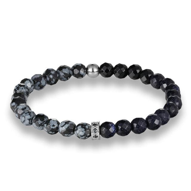 Star Stones - Silver / Black / adjutable - Accessories for man