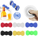 6 Colors Metal Bottle Opener Hand Spinner Tri Fidget Spinner Ceramic EDC Focus Mini Toy Party Drinking Opener Funny Barware