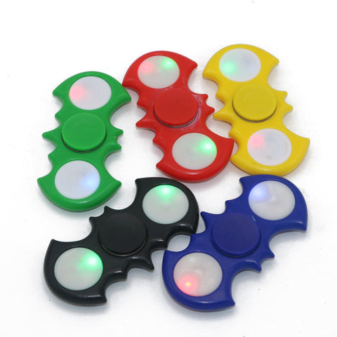 1pcs Bat Shape Hand Spinner With LED EDC Toys For Children Fidget Spinner Reduce Stress For Autism and ADHD Focus