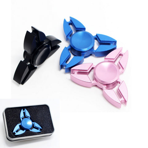 1pcs Triangular Hand Spinner Metal Professional Fidget Spinner Autism and ADHD Hand Spinner