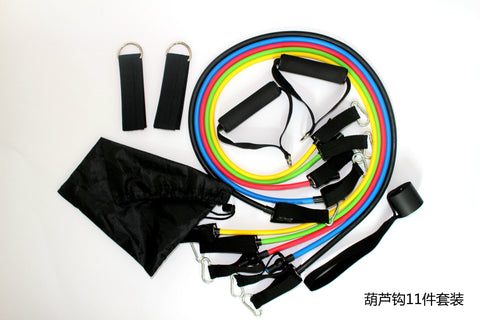 11pcs/Set Resistance bands exercise set fitness yoga Expanders Exercise Tubes