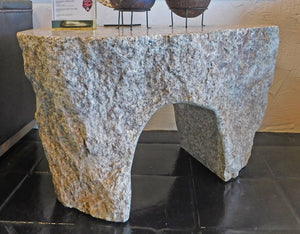 Brown Sugar Side Table (solid stone)