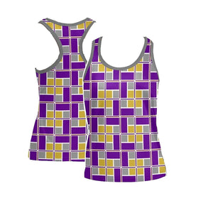 Purple and Gold Rec-Tech™ RacerBack Tank Top (Women)