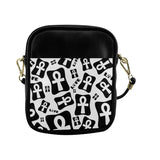 Ankh Life (White) Cross Body Sling Bag