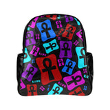 Ankh Life (Multi Color) Leather Backpack