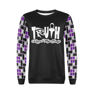 Nu Truth - Know Thyself - (Rec-Tech) Purple Crew Neck Sweater for Women