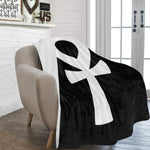 "Ankh (Black) Fleece Blanket 60""x80"""