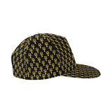 Black and Gold Ankh Snapback Hat