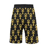 Black and Gold Ankh - Casual Shorts