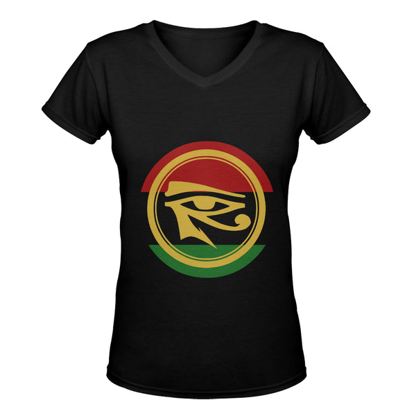 RBG/Eye of Heru (Women's Deep V-neck/Slim Fit)