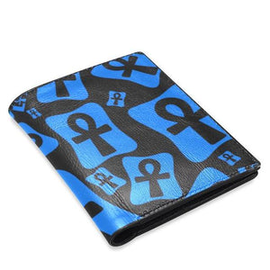 Ankh Life (Blue) Bifold Leather Wallet