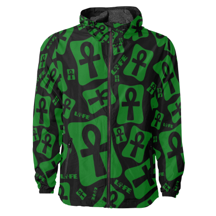Ankh Life (Green) Windbreaker