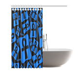 "Ankh Life (Blue) Shower Curtain 72""x72"""
