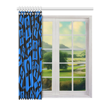 "Ankh Life (Blue) Window Curtain 52"" x 63"" (One Piece)"