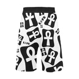Ankh Life (White) - Casual Shorts