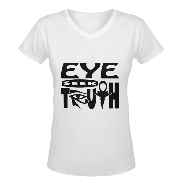 Eye Seek Truth™ Women's Deep V-neck T-shirt