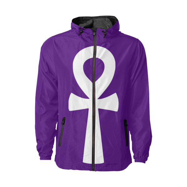 Purple Ankh Windbreaker