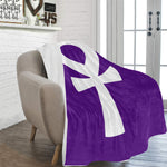 "Ankh (Purple) Fleece Blanket 60""x80"""