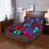 Ankh Life (Multi Color) 3Pc Bedding Set