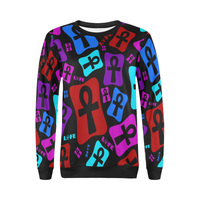 Ankh Life (Multicolor) Crewneck Sweatshirt (Women)